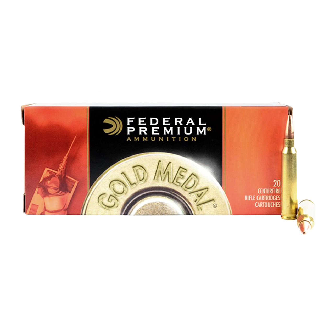 FEDERAL Gold Medal 308 Win  168 Grain Sierra MatchKing BTHP Ammo, 20 Round  Box (GM308M)