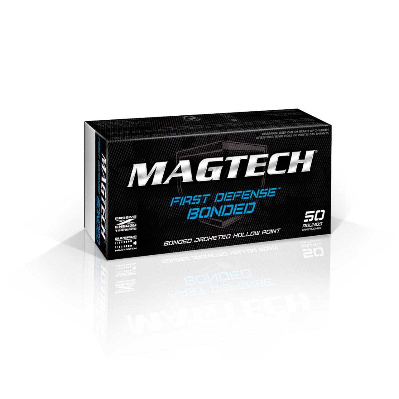 MAGTECH First Defense Bonded 9mm 124 Grain JHP Bonded Ammo, 50 Round Box  (9BONA)