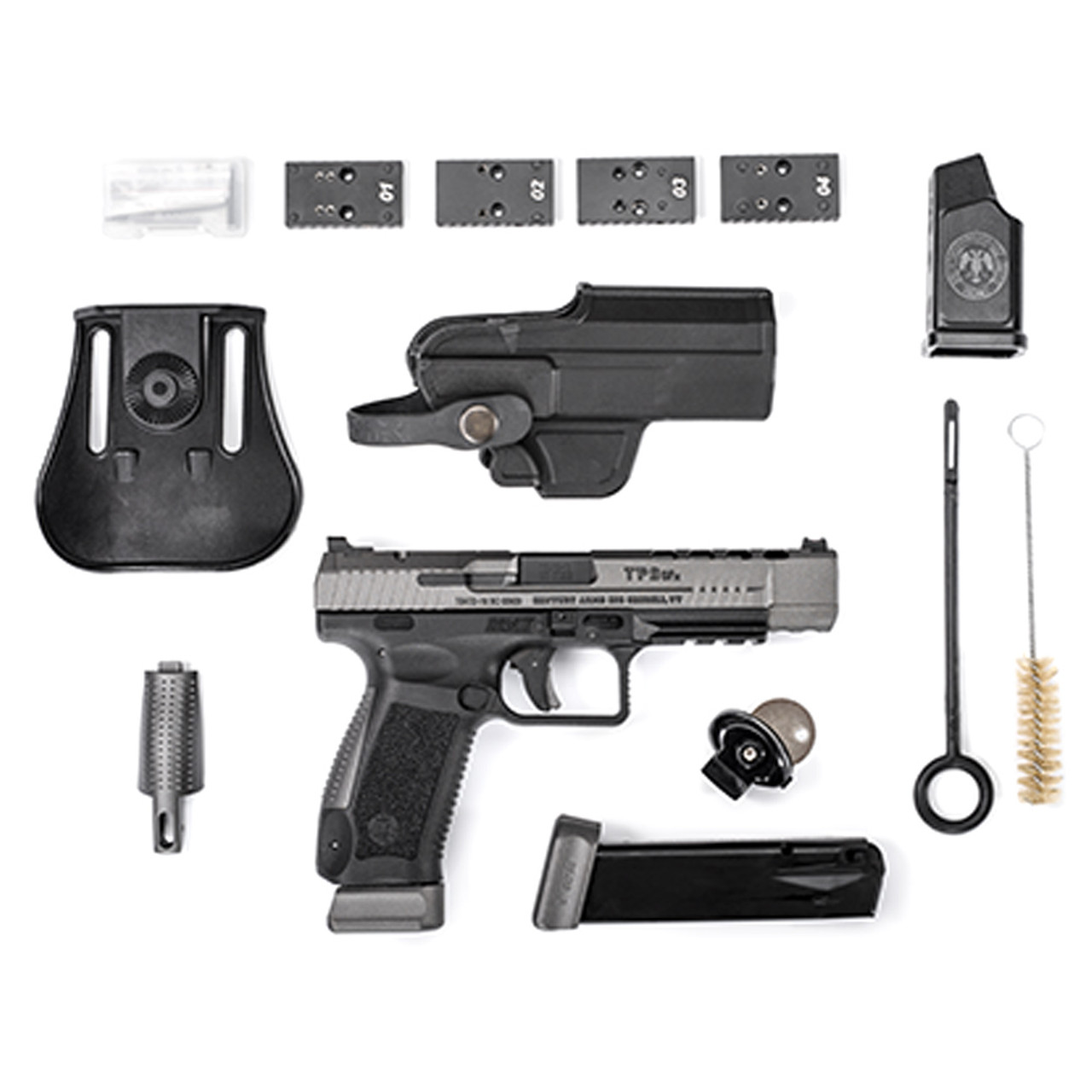 CANIK TP9SFX 9mm 5 25in Barrel 2x 20Rd Mag Two-Tone Pistol (HG3774G-N)