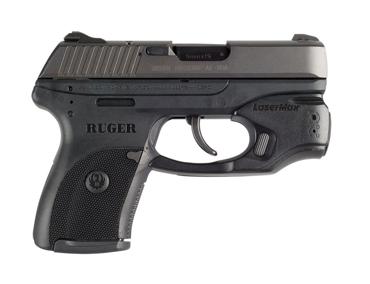 LASERMAX CenterFire Light and Green Laser with GripSense for Ruger  LC9/LC9s/LC380 (CF-LC9-C-G)