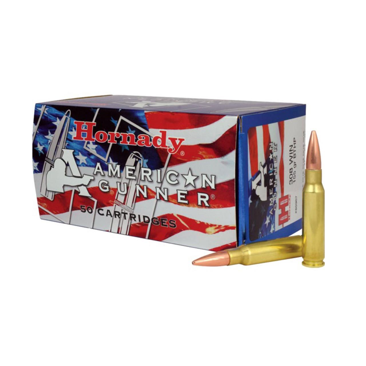 HORNADY American Gunner 308 Win  155Gr BTHP Match 50Rd Box Ammo (80967)