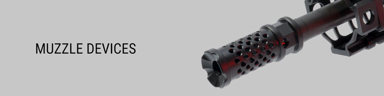 Muzzle Devices - Brakes, Flash Hiders, Thread Adapter & more