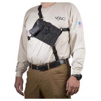 VIKING TACTICS VTAC Big Rig Automatic Black Chest Holster (VTAC-BigRig-Auto-BK)