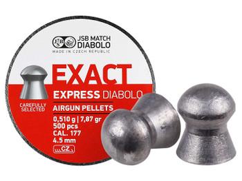 PREDATOR INTERNATIONAL Diablo Exact Express 177Cal 7.87Gr 500Ct Airgun Pellets (546257-500)