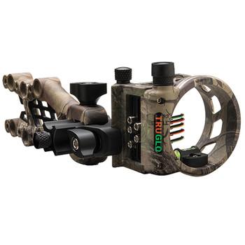 TRUGLO Carbon Hybrid 0.019 5 Pin Ambidextrous XTRA Camo Bow Sight with Rheostat Light (TG7515J)