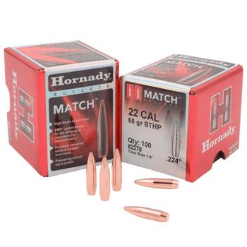 HORNADY 22 Cal .224 68Gr Hollow Point 100Rd Box Bullets (2278)