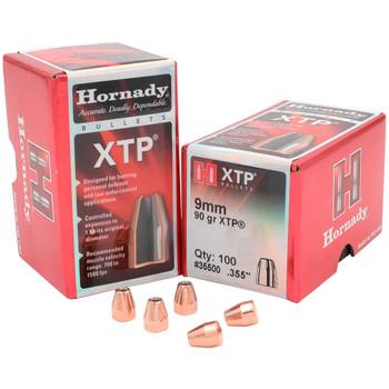 HORNADY 9mm 90Gr XTP Hollow Point 100Rd Box Bullets (35500)
