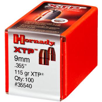 HORNADY 9mm 115Gr XTP Hollow Point 100Rd Box Bullets (35540)