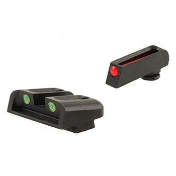 TRUGLO Brite-Site Tritium Red, Rear Green Glock 20-37 Handgun Sights (TG131G2)