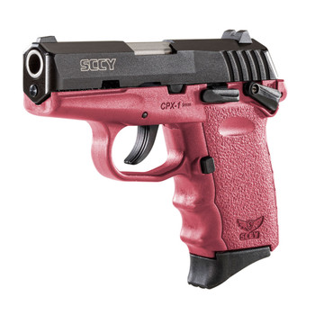 SCCY CPX-1 9mm 3.1in 10rd Black Nitride/Crimson Semi-Automatic Pistol (CPX-1-CBCR)