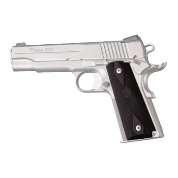HOGUE 1911 Government Colt Rubber Checkered with Diamonds Black Grip Panels (45010)
