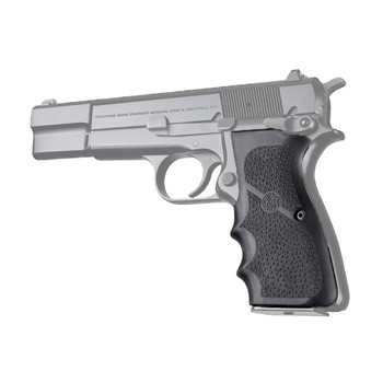 HOGUE Browning Hi-Power Rubber with Finger Grooves Black Grip (09000)