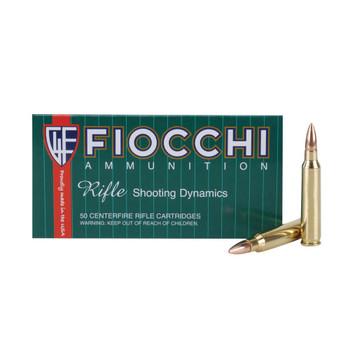 FIOCCHI 223 Rem. 55 Grain FMJBT Ammo, 50 Round Box (223A)