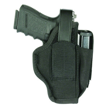 BLACKHAWK Nylon 4in Barrel Medium to Large Revolvers Ambidextrous Size 02 Holster with Mag Pouch (40AM02BK)