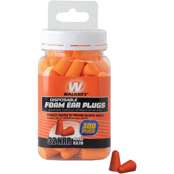 Walker's Disposable Foam Earplugs (GWP-FP-50PK)