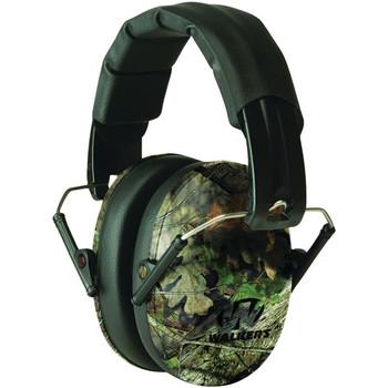 Walker's Pro Low Profile Mossy Oak Folding Earmuffs (GWP-FPM1-CMO)