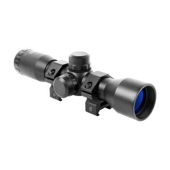 AIM SPORTS 4x32mm Compact Mil-Dot With Rings Scope (JTM432B)