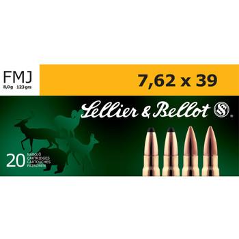 SELLIER & BELLOT 7.62x39 124Gr FMJ Rifle Ammo (SB76239A)