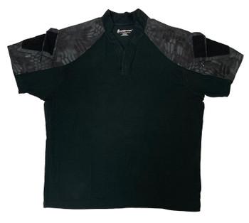 KRYPTEK Tactical Short Sleeve Black/Typhon Rugby Shirt (19TACRSSBKT)