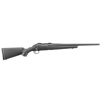 RUGER American Compact 308 Win 18in 4rd Black Synthetic Stock Bolt-Action Rifle (6907)