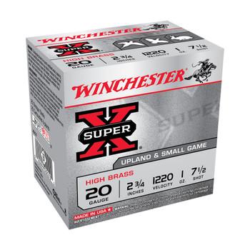 WINCHESTER AMMO Super-X 20Ga 2.75in 7.5-Shot HiBrass Shotgun Shells (X207)