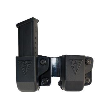 COMP-TAC Twin OWB Belt Clip Size4 GAP Magazine Pouch For Glock 9/40/45 (C62304000LBKN)