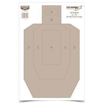 BIRCHWOOD CASEY Eze-Scorer 12x18in 10-Pack BC IPSC Practice Paper Target (37206)