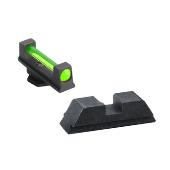 AMERIGLO Glock 17,19,22,23,24,26,27,33,34,35,37,38,39 Green Fiber Front Black Rear Sight Set (GFT-114)