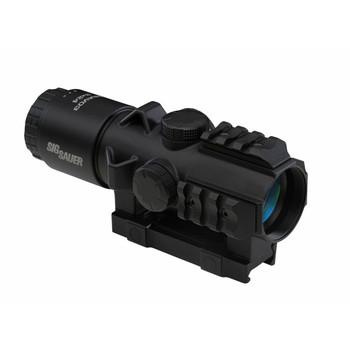 SIG SAUER Bravo3 3x30mm Illuminated .300 Blackout Horseshoe Dot Reticle Graphite Battle Sight (SOB33102)