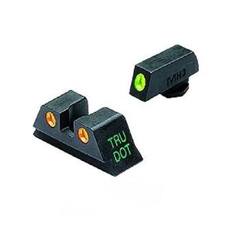MEPROLIGHT Tru-Dot Glock 20,21,29,30 Tritium Fiber Optic Green,Orange Front & Rear Iron Sight (ML10222O)