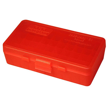 MTM CASE-GARD P-50 Series 50rd Clear Red Large Handgun Ammo Box (P504529)