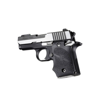 HOGUE Sig Sauer P938 Black Rubber Grip with Finger Grooves (98080)