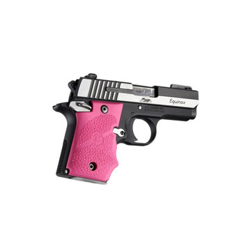 HOGUE Sig Sauer P938 Pink Rubber Grip with Finger Grooves (98087)