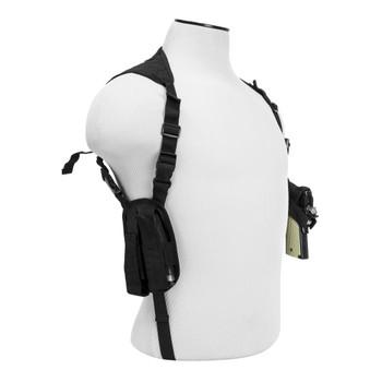 NCSTAR Ambidextrous Double Magazine Holder And Black Shoulder Holster (CV2909)