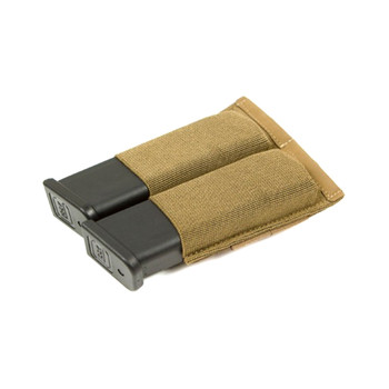 BLUE FORCE Ten-Speed Double Pistol Coyote Brown Mag Pouch (HW-TSP-PISTOL-2-CB)