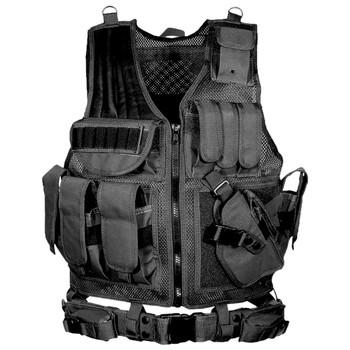 UTG Law Enforcement Black Tactical Vest (PVC-V547BT)