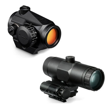 VORTEX Crossfire 2 MOA Red Dot Sight and VMX-3T Magnifier (CF-RD2+VMX-3T)