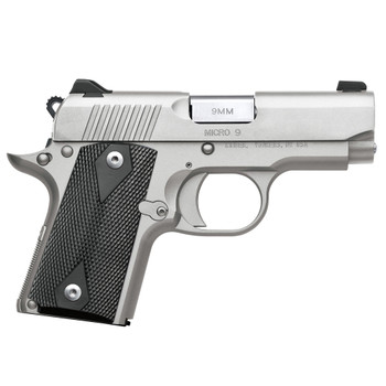 KIMBER Micro 9 STS 9mm 3.15in 7rd Stainless Semi-Auto Pistol 3700636)