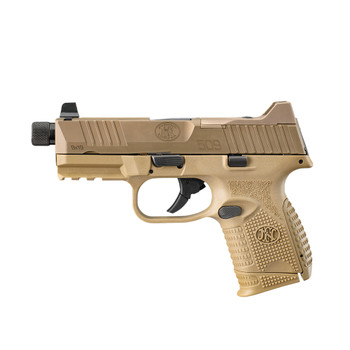 FN 509 Compact Tactical 9mm 4.32in 15/12/24rd Flat Dark Earth Semi-Automatic Pistol (66-100780)