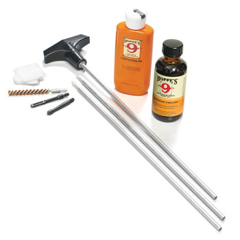 HOPPE'S .22 and .223 Caliber Rifle Aluminum Rod Cleaning Kit Clamshell Pack (U22B)