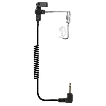 EAR PHONE CONNECTION Fox Listen Only Clear Long Tube Earpiece with 3.5mm Connector (EP1089XC)