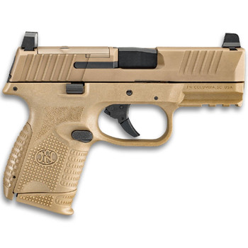 FN AMERICA FN 509 Compact MRD NMS 9mm 3.7in 12rd/15rd FDE Pistol (66-100574)