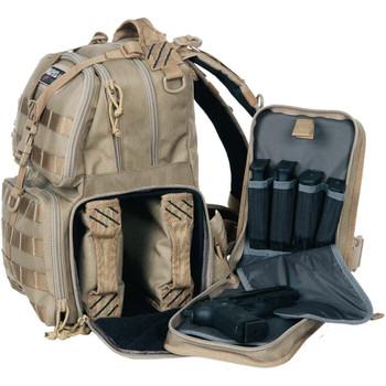 G Outdoors Tactical Range 2 Handguns Tan Backpack (GPS-T1610BPT)