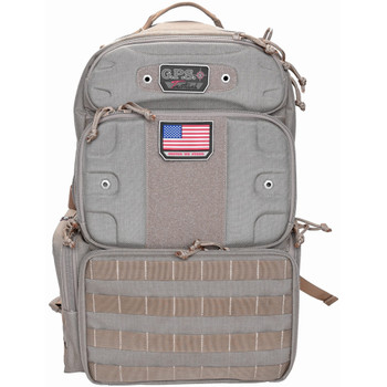G Outdoors Tall-Holds 4 Handguns Tactical Tan Range Backpack (GPS-T1913BPT)