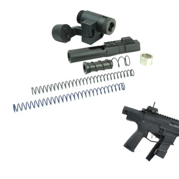 DEAD FOOT ARMS Modified Cycle System 9mm Bolt Carrier Group with Left Side Folding Adaptor (DFA-MCS-LFS9MM-BN1 )