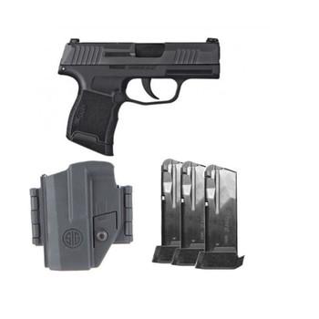SIG SAUER P365 TacPac 9mm 3.1in 12rd Semi-Automatic Pistol (365-9-BXR3-TACPAC)