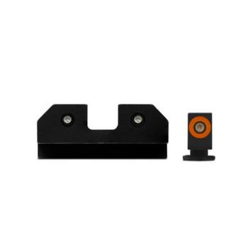 XS SIGHT SYSTEMS RAM Orange Tritium Night Sights for Glock 17,19,22-24,26,27,31-36,38 (GL-R012P-6N)