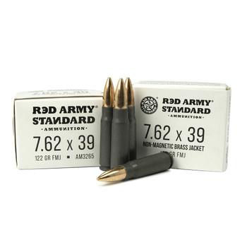 RED ARMY STANDARD 7.62x39mm 122Gr FMJ 20rd Box Ammo (AM3265)