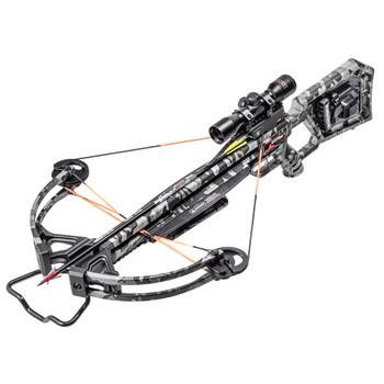 WICKED RIDGE Rampage 360 ACUdraw/Multi-Line Scope Peak Camo Crossbow Package (WR20015-9432)