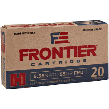 HORNADY Frontier 5.56 Nato 55 Gr FMJ Rifle Bullets (FR200)